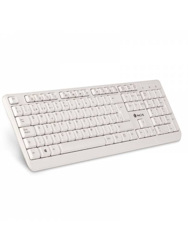 TECLADO USB NGS MM SPIKE BLANC O