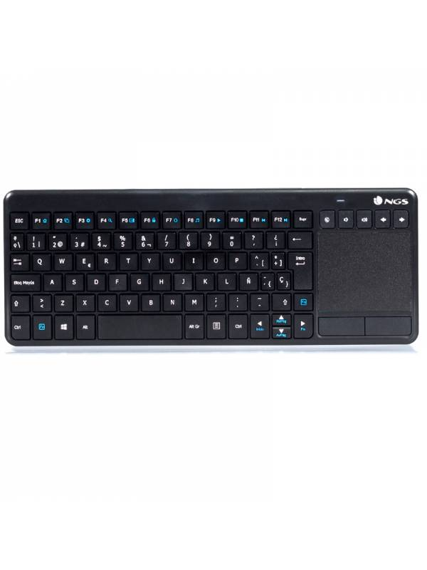 TECLADO WIRELESS NGS SMARTV    WARRIOR TOUCHPAD NEGRO