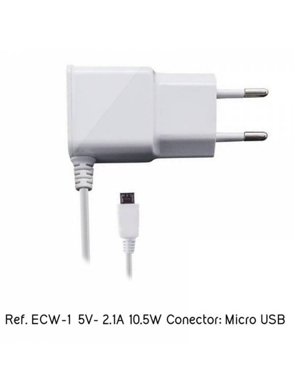 CARGADOR  5V ENCHUFE EIGHTT    ECW-1 MICRO USB BLANCO