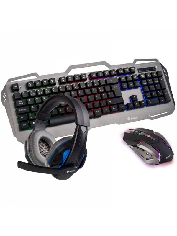 TECL+RAT USB NGS GBX-1500 PACK  TECLADO+RATON+AURICULARES
