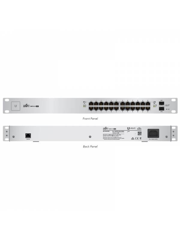 SWITCH 24PTOS UBIQUITI 500W    POE