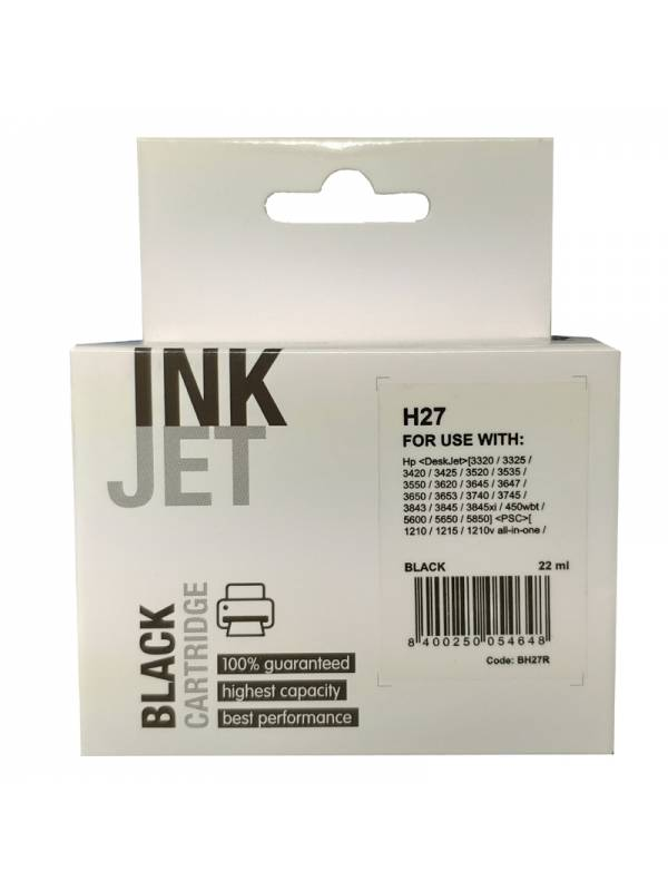 CARTUCHO INK HP BH27R H27      NEGRO