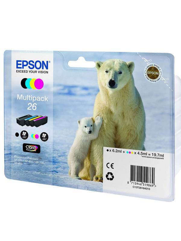 CARTUCHO EPSON MULTIPACK EPSON 26 4 COLORES