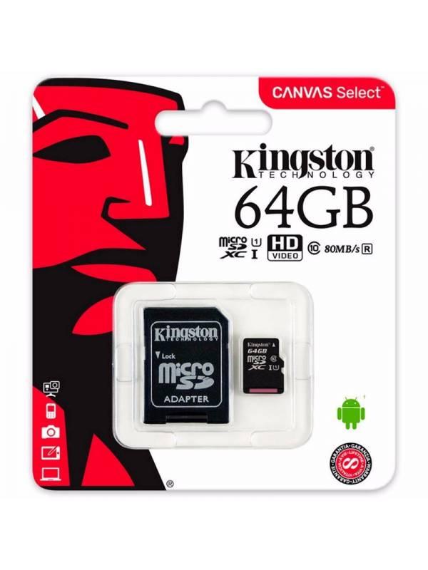 MEMORIA DG  64GB KINGSTON MSD/ SD CON ADAPTADOR
