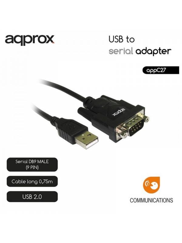 CONVERSOR USB A SERIE DB9 APPR OX NEGRO