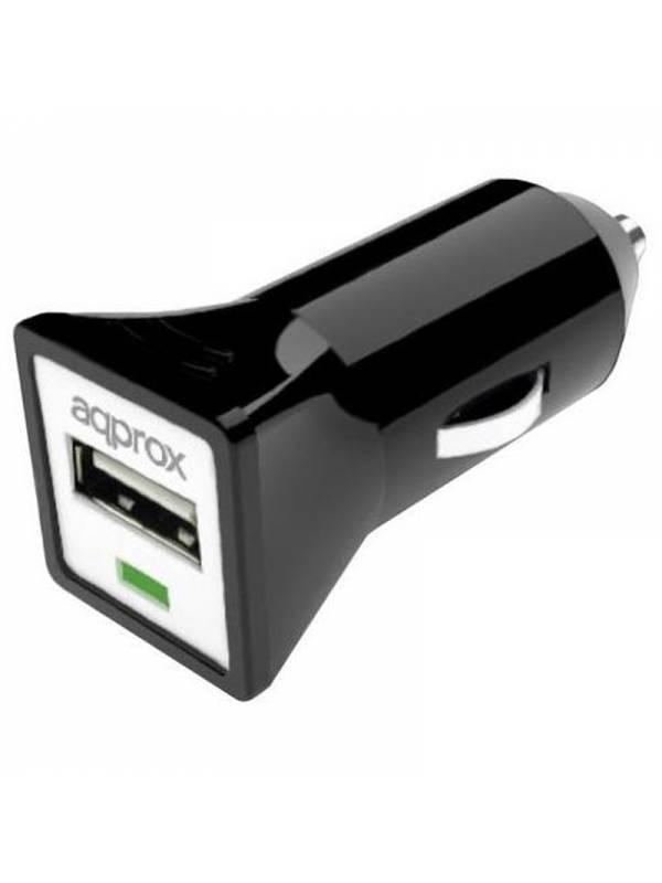 CARGADOR  5V COCHE 1X USB 1.0A  NEGRO