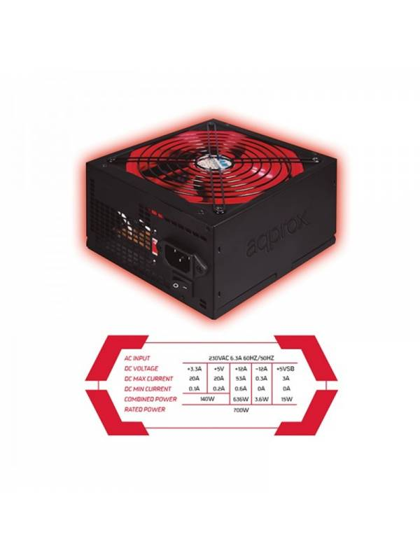 FUENTE 700W53A 85% APP700PS   PSU APPROX GAMING
