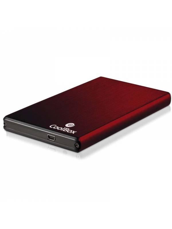 CAJA 2.5 USB 2.0 COOLBOX ROJA  SATA