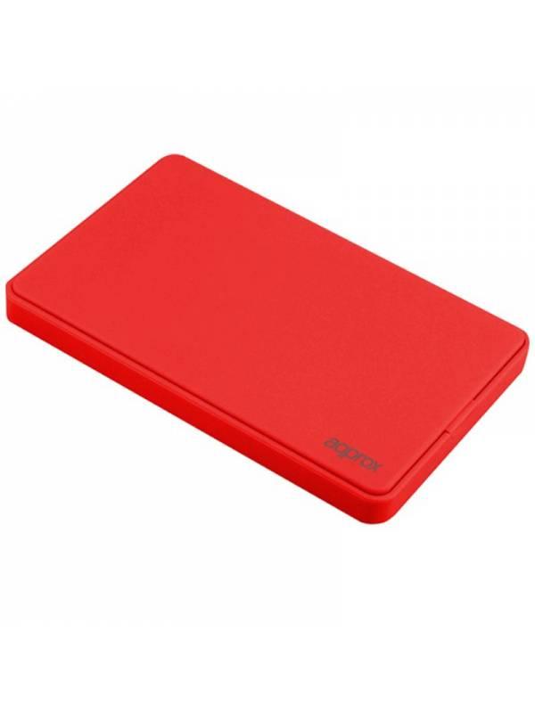 CAJA 2.5 USB 3.0 APPROX ROJA  9.5mm ENCLOSURE HASTA 2TB
