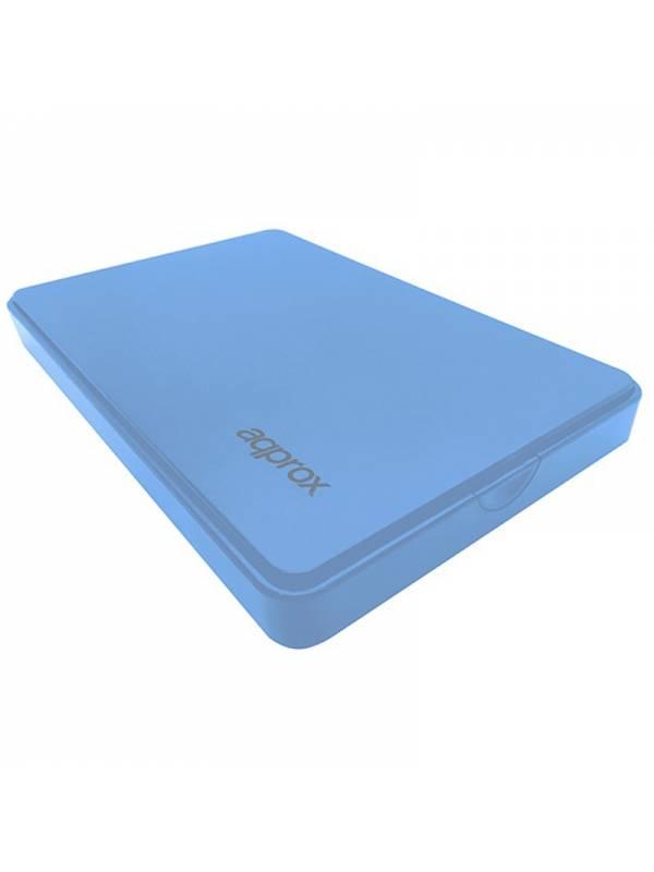 CAJA 2.5 USB 2.0 APPROX AZUL  9.5mm ENCLOSURE HASTA 2TB
