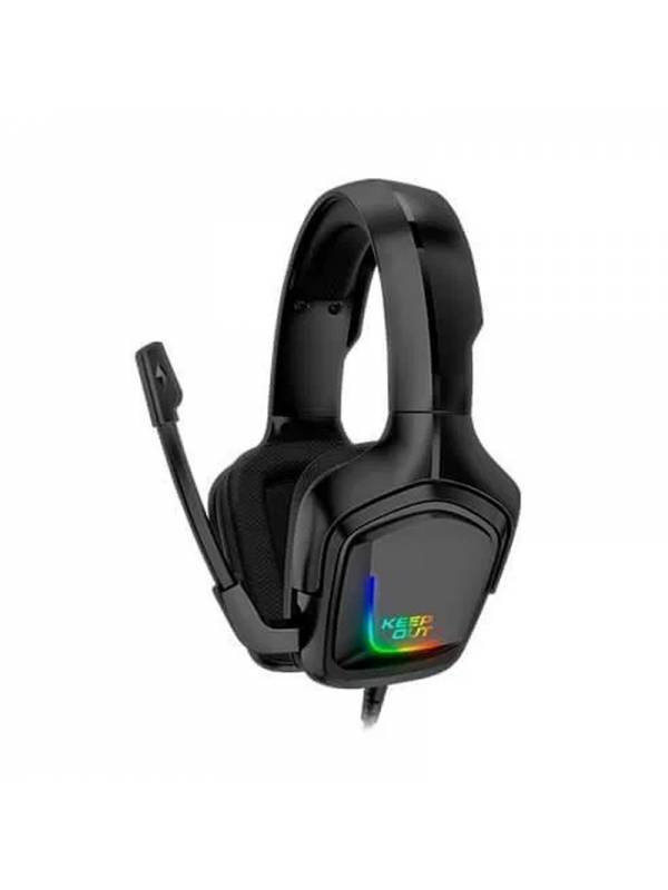 AURI. + MIC  3.5MM KEEP OUT    RGB GAMING NEGRO