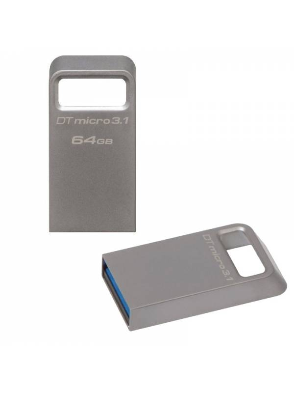 MEMORIA USB 3.1  64GB KINGSTON  ALUMINIO MICRO