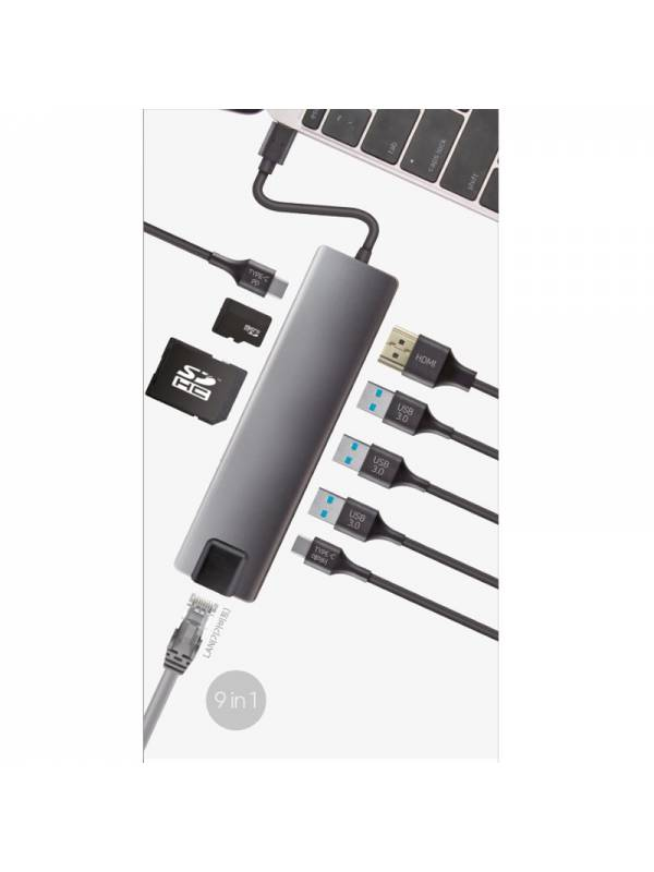MINI DOCK USB TYPE C COOLBOX   USB 3.0, LAN, HDMI, SD, MSD