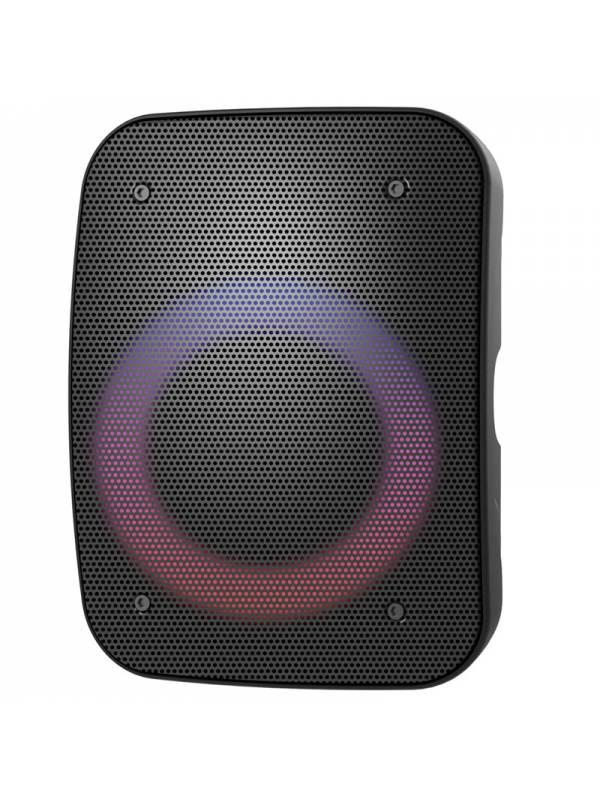 ALTAVOZ BT PLATINET + RADIO +  MICROFONO KARAOKE LED