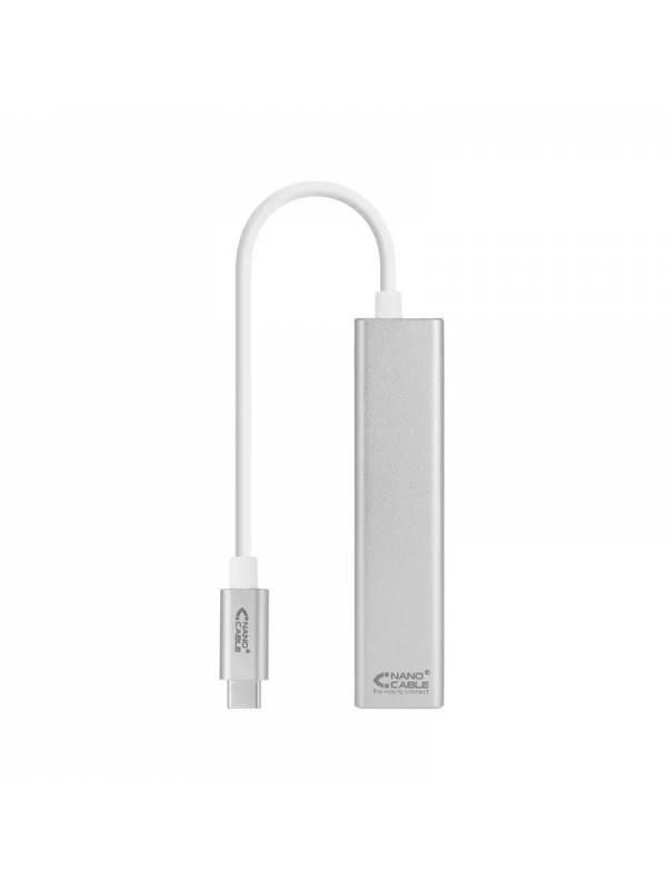 ADAPT. USB TYPE C A ETHERNET   GIGABIT + 3X USB 3.0 PLATA