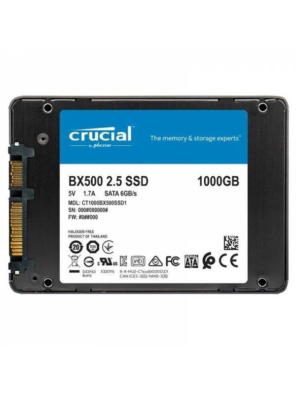 DISCO SSD 1TB    CRUCIAL  SATA 3 BX500 SIN ADAPTADOR