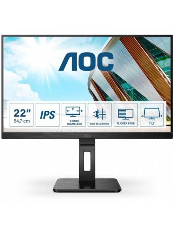 MONITOR 21.5 AOC LED MM 22P2D U IPS FHD NEGRO