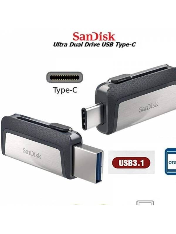 MEMORIA USB 3.1 256GB TYPE-C    DUAL DRIVE SANDISK