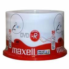 DVD MAXELL   50 UNDS 16X 4.7GB  -R PRINTABLE