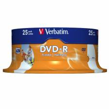 DVD VERBATIM 25 UNDS 16X 4.7GB  PRINTABLE