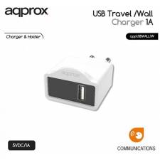 CARGADOR  5V ENCHUFE APPROX 1X  USB TRAVEL WALL BLANCO