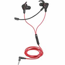 AURI. + MIC 3.5MM TRUST GXT408   GAMING IN EAR NEGRO-ROJO