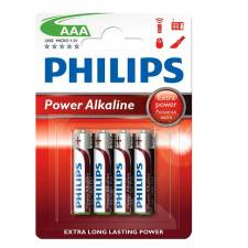PILAS AAA  4 UNDS PHILIPS BLIS TER ALCALINA