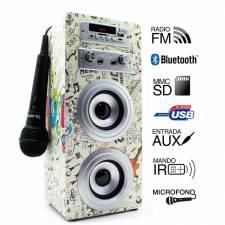 ALTAVOZ BT BIWOND KARAOKE JOYB OX GUITAR FM,SD,USB,MICROFONO