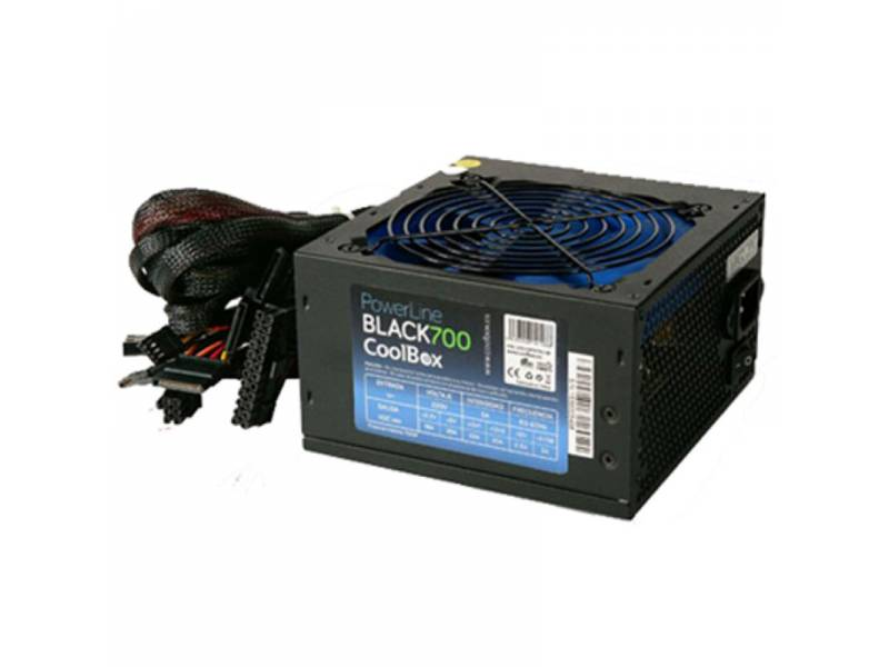 FUENTE 700W/22A COOLBOX 12CM    BLACK 700