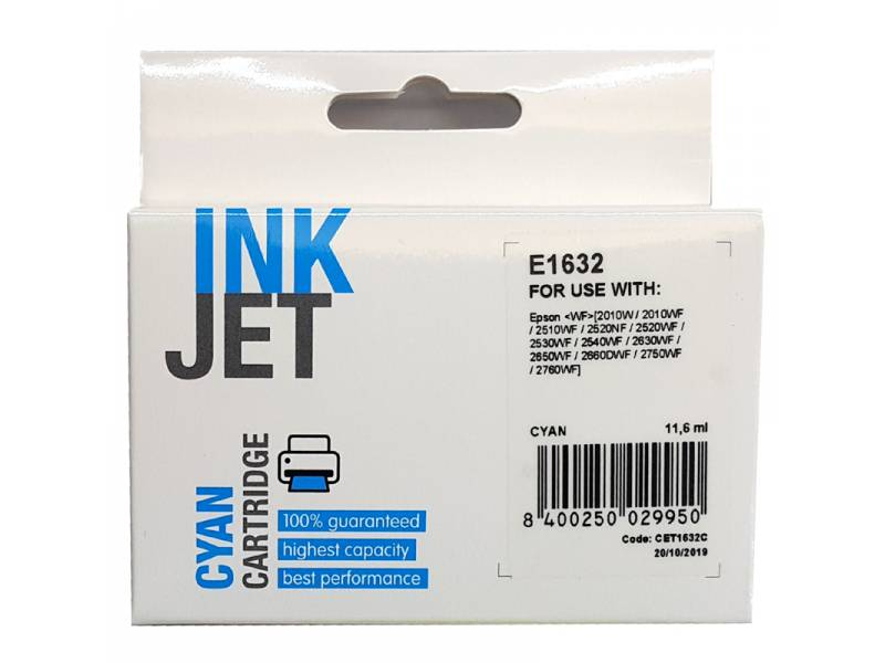 CARTUCHO INK EPSON T163240/T16 22 CYAN