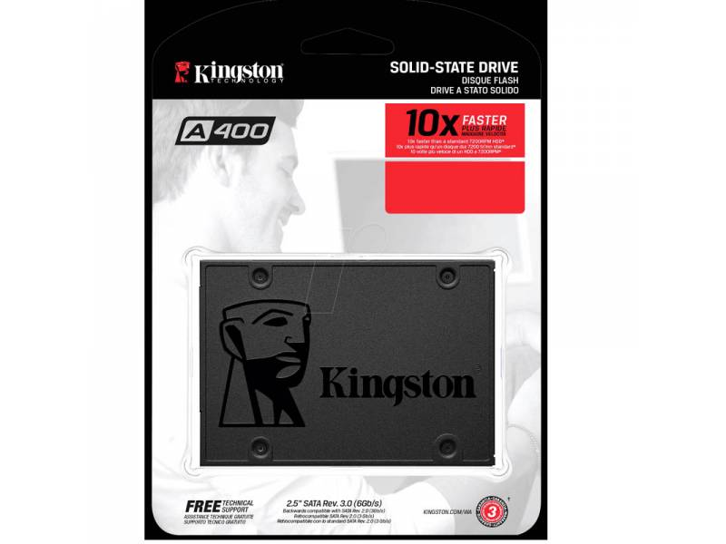 DISCO SSD  120GB KINGSTON SATA 3  SA400 SIN ADAPTADOR