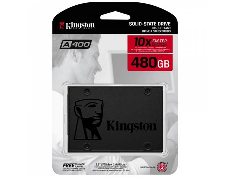 DISCO SSD  480GB KINGSTON SATA 3 SA400S37 SIN ADAPTADOR