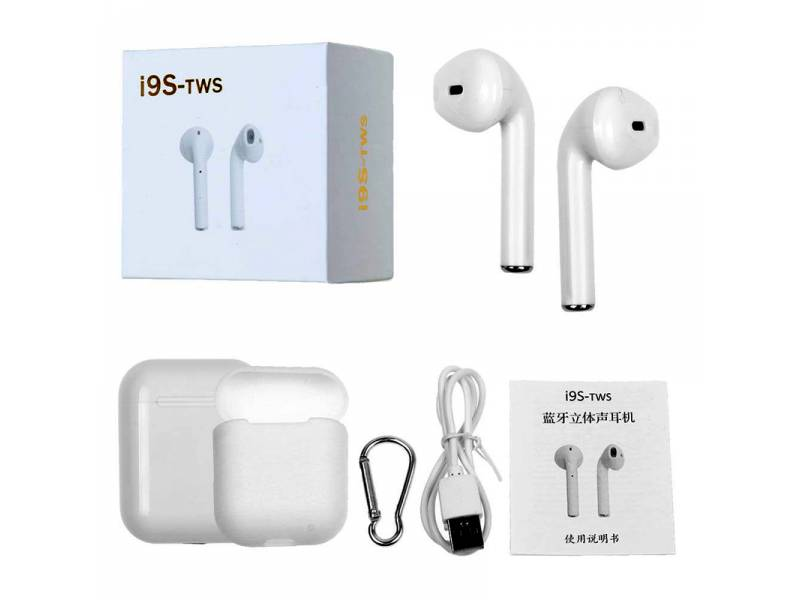 AURI. + MIC BT I9S TWS IN EAR  BLANCO ESTILO APPLE